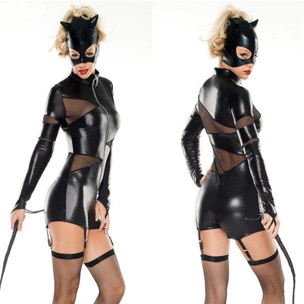 Костюм женщины-кошки для хэллоуин