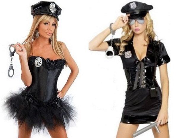 Девушка-полицеский - отличный костюм для хэллоувина