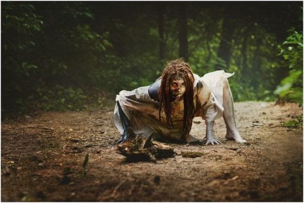 Классный женский образ для хэллоуина. Впечатляющая работа.