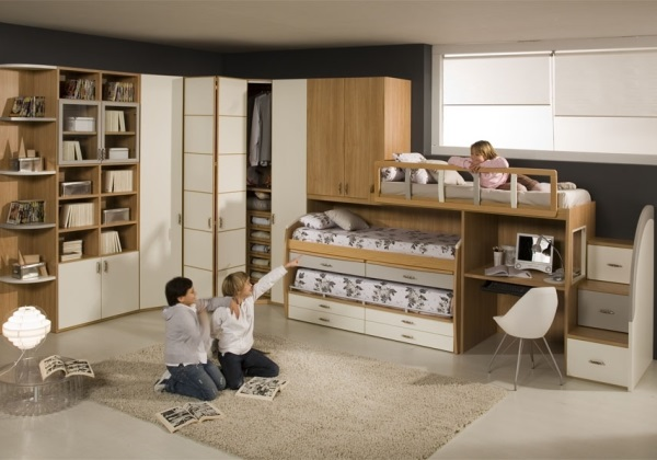Как разместить шкаф или кровать в детской!