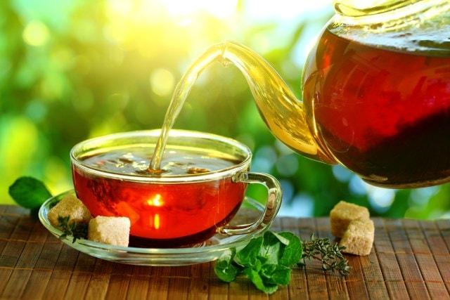 Удалить пятна чая