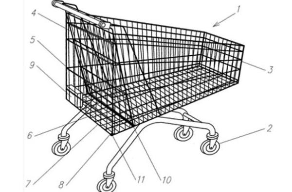 Новая тележка для супермаркетов