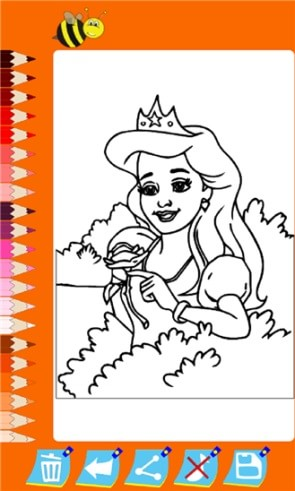 Раскраска с принцессой