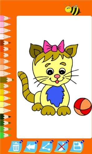 Раскраска с котиком